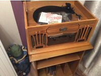 For sale Daklin music centre in light wood with stand to match good condition