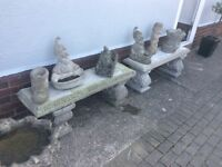 Stone benches great condition very old very heavy