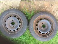 """Fiesta 14"""" Steel Wheels."""