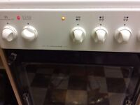 Euroline freestanding white electric oven and hob