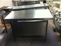Stainless Steel Table.Catering Equipment,120cmx65cmx86cm H with Front Panel