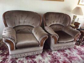 3 piece suite, light brown