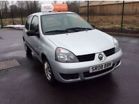 Renault Clio Campus, 2008, 1.2 petrol, 3 months RAC warranty, service history, full years MOT