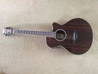 New Tanglewood DBT DLX electro-acoustic Guitar