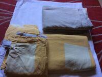 Bundle of double duvet covers plus pillow cases