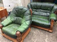 Cottage style sofa and arm chair