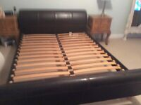 BED FRAME FAUX LEATHER