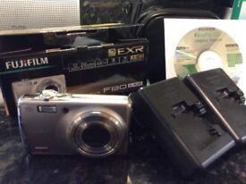 Fuji digital camera with underwater casing.
