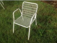 6 STURDY METAL GARDEN CHAIRS