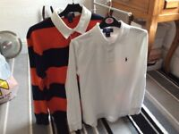 Two Ralph Lauren polo shirts boys 12/14 £5 for both