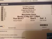 2 x Ariana Grande tickets Manchester Arena 22 May 2017