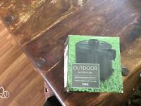 Outdoor pump battery powered great for camping or out door use