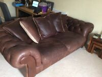 Brown Chesterfield Sofa