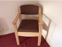 COMMODE Solid light oak commode chair hardly been used.