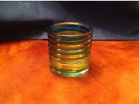 34 x yellow and blue candle holders (6cm tall)