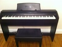 Casio Privia PX-750 Digital Piano, in Black colour, comes with music stand and lovely stool