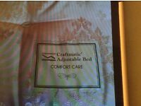 Craftmatic comfort care double bed