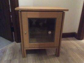 Oak / oak veneer TV cabinet