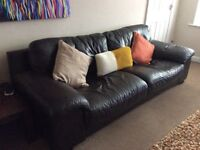 Leather 3 piece suite very good condition