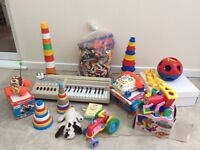 1970's toys, Fisher Price and other known makes. Good clean condition