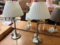2 Brass colour lamps #43252 £15 #43251 £15