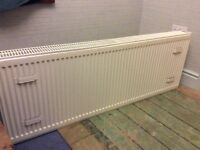 Double panel high output central heating radiator