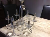 Chrome & Glass Chandelier for sale £40 o.n.o