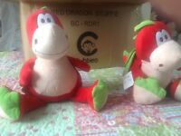 Cubbies Brand Soft Toys Red Dragons ideal for Embroidery