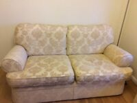 3 piece suite M&S light gold damask