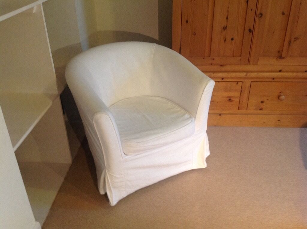 IKEA Tub Chair, White/Cream | in Colinton, Edinburgh | Gumtree