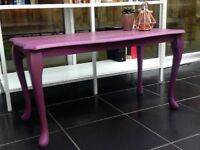Vintage Rococo Coffee Table in Purple Annie Sloan Chalk Paint Emile Shabby Chic