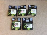 HP 932 and 933 XL printer cartridges