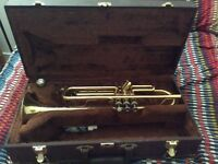 Trumpet with case and beginner's book