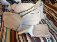 Beige changing bag and matching parasol for Stokke Xplory