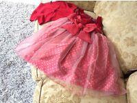 Beautiful Red girls Christmas Dress aged 8