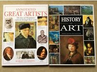 History of Art & Great Artists (painters) x 2 large hardback books