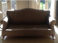 2 seat Sofa, classic design from expensive shop in London, well used but has kept its shape