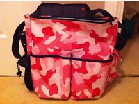 skiphop pink camo changing bag as seen collect or deliver Stonehaven only