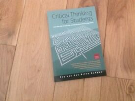 Critical Thinking for Students paperback book