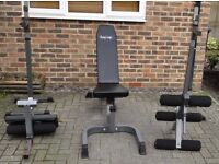 REDUCED - Body Craft F602 Deluxe Weights Bench All Attachments Curls Leg Extensions Squat Stands
