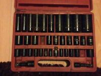 37 pc impact socket set used