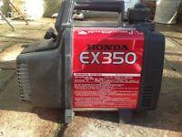 Honda suitcase generator ex 350
