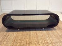 Tech link tv stand - black gloss and brushed chrome - fits tv up to 42 in
