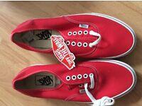 Vans shoes uk 8 new