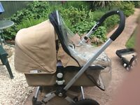Bugaboo frog pram pushchair and car seat. Shows signs of use but still an excellent buy !