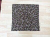 Carpet tile green mixed heavy duty