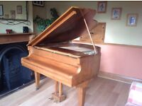 Baby Grand Piano and stool