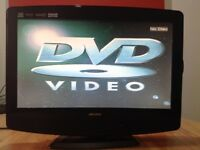 BUSH 19 inch LCD TV Built in DVD player, Freeview, perfect working condition
