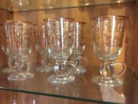 24 beautiful xmas glasses 6 each flutes,tumblers,wine and coffee