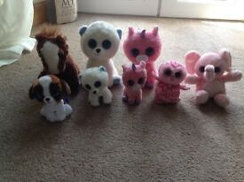 Collection of 8 Beanie Boos